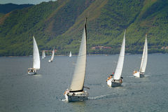 Sailing regatta Sail & Fun Trophy Royalty Free Stock Images