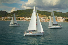 Sailing regatta Sail & Fun Trophy in Turkey Royalty Free Stock Image