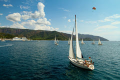 Sailing regatta Sail & Fun Trophy in Turkey Royalty Free Stock Photography