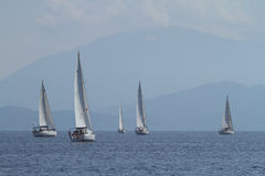 Sailing regatta Sail & Fun Trophy in Turkey Royalty Free Stock Images