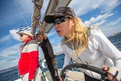 Sailing regatta 16th Ellada  among Greek island group in the Aegean Sea Royalty Free Stock Image