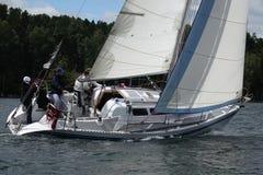 Sailing regatta on Ural. Stock Photo