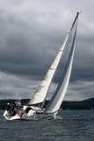 Sailing regatta on Ural. Royalty Free Stock Photo