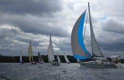Sailing regatta on Ural. Royalty Free Stock Image