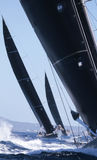Sailing regatta wally class in Majorca vertical Royalty Free Stock Photos