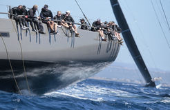 Sailing regatta wally class in Majorca Royalty Free Stock Photos
