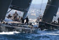 Sailing regatta wally class in Majorca Stock Photo