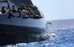 Sailing regatta wally class in Majorca Royalty Free Stock Photo