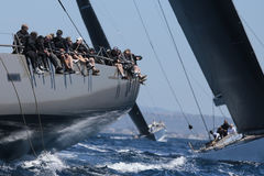 Sailing regatta wally class in Majorca Royalty Free Stock Photography