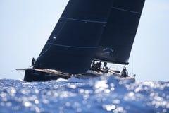 Sailing regatta wally class in Majorca Stock Images