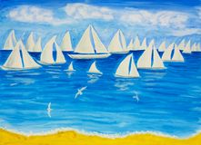 Sailing regatta white 4 Stock Images