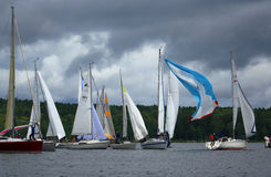Sailing regatta-winds. Royalty Free Stock Images