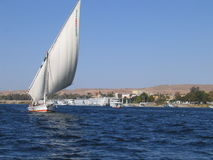 Sailing on the river Nile Royalty Free Stock Photo