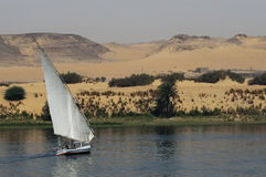 Sailing on river Nile Royalty Free Stock Images