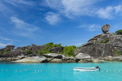 Sailing rock at Similan island Royalty Free Stock Photo