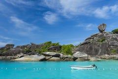 Sailing rock at Similan island Royalty Free Stock Photo