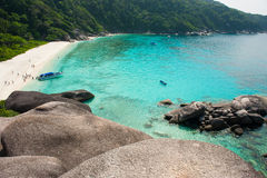 Sailing rock in Similan island Royalty Free Stock Photos