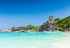 Sailing rock, 8th similan island. Royalty Free Stock Images