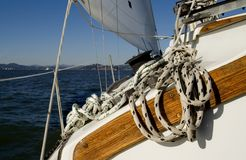 Sailing Rope Winch Stock Photos