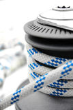 Sailing rope on the winch Royalty Free Stock Photos