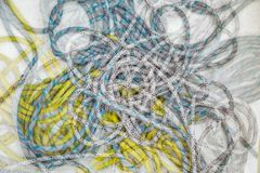 Sailing ropes, double exposure Royalty Free Stock Photo