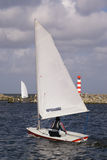 The sailing on a sail boat Royalty Free Stock Photo
