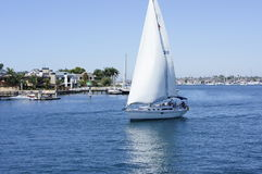 SAILING. The sailboat on the sea are on it's way going to the ocean Stock Photos