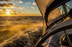 Sailing on a sailboat Royalty Free Stock Photography