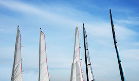 Sailing sails on the beach Stock Image