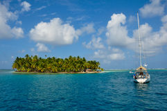 Sailing the San Blas Islands, Panama Stock Photo