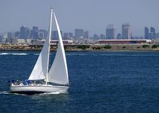 Sailing in San Diego, California Stock Image