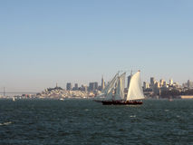Sailing in the San Francisco Bay Stock Images