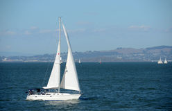 Sailing in the San Francisco Bay Stock Photography