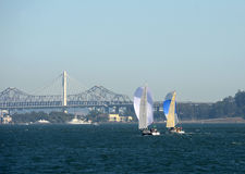 Sailing in the San Francisco Bay Stock Photo