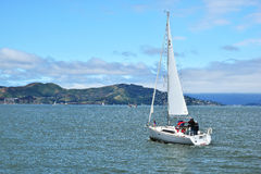 Sailing San Francisco Bay. SAN FRANCISCO, USA - MAY 08, 2016: Sailing San Francisco Bay Royalty Free Stock Image