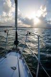 Sailing in San Juan Bay. Sailing in San Juan inner harbor Stock Image
