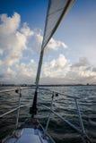Sailing San Juan Bay. Sailing in San Juan inner harbor Stock Image