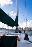 Sailing in San Juan inner harbor. Sailing in San Juan bay Royalty Free Stock Photo