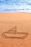 Sailing sand sign Royalty Free Stock Photography