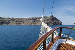 Sailing in Santorini Royalty Free Stock Photography