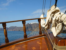 Sailing in Santorini with a view on Fira, Santorini, Greece Stock Photography