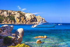 Sailing in Sardegna island Stock Photos