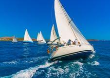 Sailing in Saronic gulf in Greece Stock Image