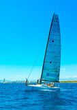 Sailing in Saronic gulf in Greece Royalty Free Stock Photo
