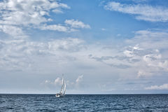 Sailing in Saronic Gulf. Yacht sailing in the Saronic Gulf, Greece Stock Photos