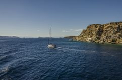 Sailing in the saronic sea royalty free stock images