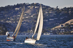 Sailing in Sausalito stock images