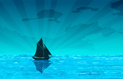 Sailing scene Royalty Free Stock Image
