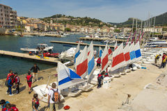 Sailing School Cassis Royalty Free Stock Image