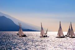 Sailing School off Riva del Garda Italy Stock Image